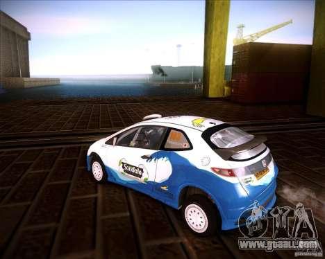 Honda Civic Type-R (Rally team) for GTA San Andreas left view