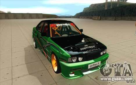 BMW E34 V8 Wide Body for GTA San Andreas back view