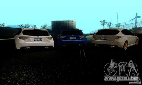 2008 Subaru Impreza Tuneable for GTA San Andreas back left view