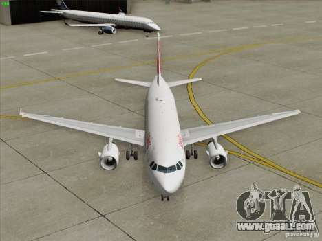 Airbus A319-112 Swiss International Air Lines for GTA San Andreas bottom view