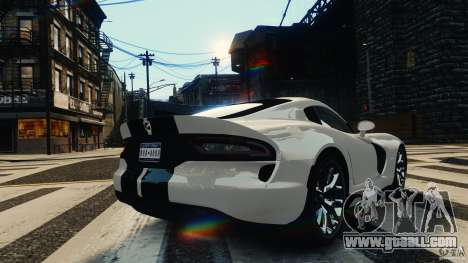 Dodge Viper GTS 2013 for GTA 4 back left view