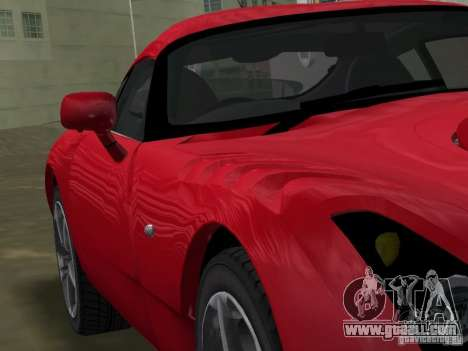 TVR Sagaris for GTA Vice City back view