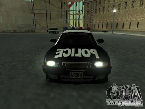 Police Civic Cruiser NFS MW for GTA San Andreas back view