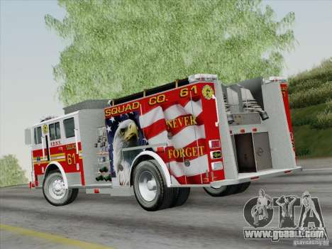 Seagrave Marauder. F.D.N.Y. Squad 61. for GTA San Andreas left view