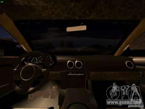 Lamborghini Reventon for GTA San Andreas side view