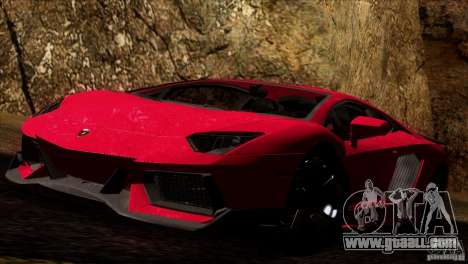 Lamborghini Aventador LP-700 J for GTA San Andreas back left view