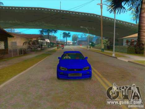 Nissan Skyline GT-R R34 from FnF 4 v.2.0 for GTA San Andreas right view