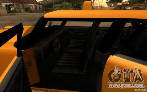 Glendale Cabbie for GTA San Andreas back left view
