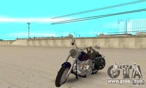 Harley Davidson FLSTF (Fat Boy) v2.0 Skin 4 for GTA San Andreas