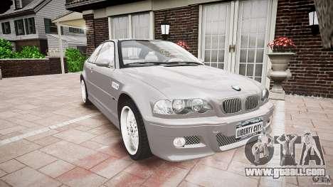 BMW M3 e46 v1.1 for GTA 4 back view