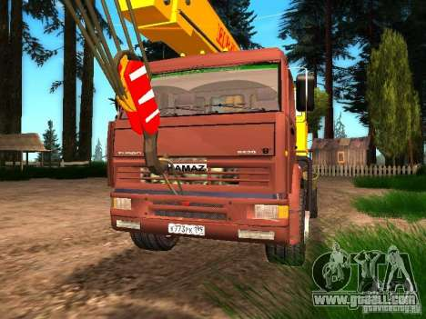 KAMAZ 6520 KS3577-3 k Ivanovets for GTA San Andreas back view