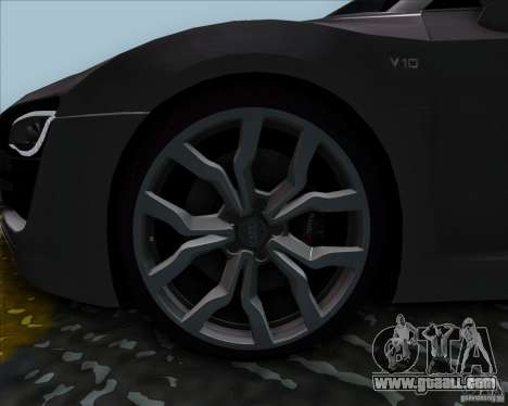 Audi R8 Spyder for GTA San Andreas back left view