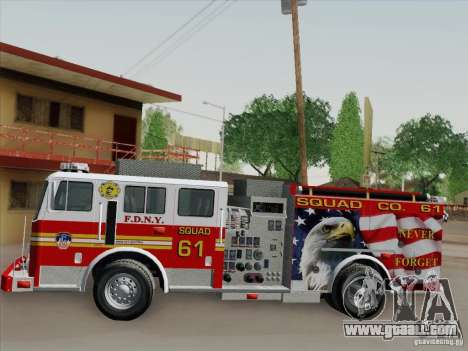 Seagrave Marauder. F.D.N.Y. Squad 61. for GTA San Andreas interior