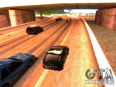 Normal drivers on the track for GTA San Andreas fifth screenshot