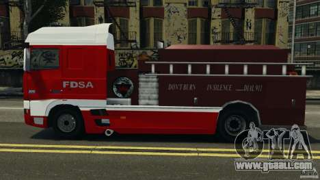 DAF XF Firetruck for GTA 4 left view