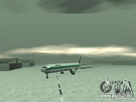Boeing 767-300 Alitalia for GTA San Andreas left view