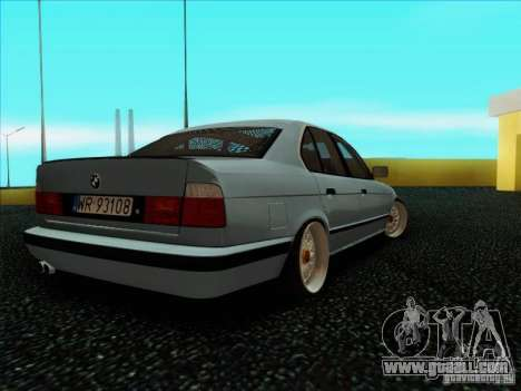 BMW 5 series E34 for GTA San Andreas back left view