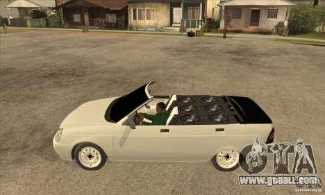 VAZ LADA Priora convertible for GTA San Andreas left view