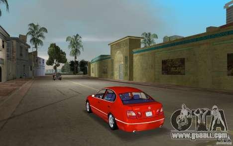 Lexus GS430 for GTA Vice City back left view