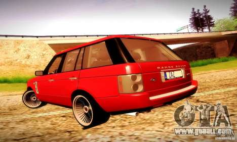 Range Rover Supercharged for GTA San Andreas right view