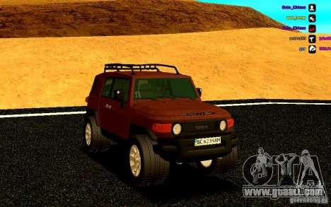 Toyota FJ Cruiser for GTA San Andreas back view