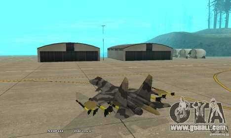 Su-37 Terminator for GTA San Andreas back left view
