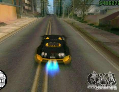 Bugatti Veyron Super Sport final for GTA San Andreas back view