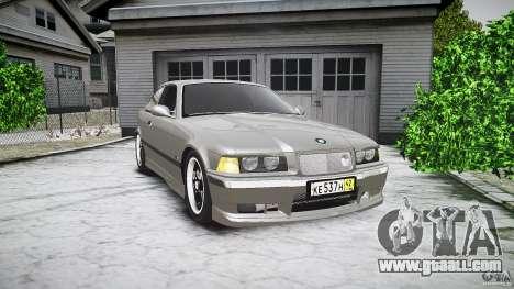 BMW E36 328i v2.0 for GTA 4 inner view