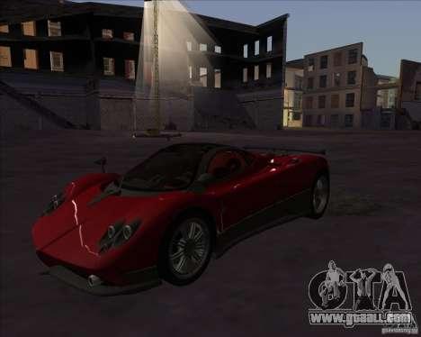 Pagani Zonda F for GTA San Andreas back left view
