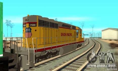 Locomotive SD 40 Union Pacific for GTA San Andreas