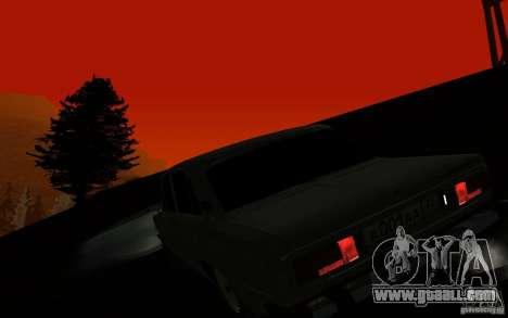 VAZ 2106 Tyumen for GTA San Andreas inner view