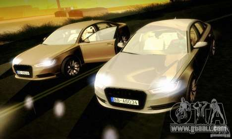 Audi A6 2012 for GTA San Andreas side view