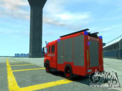 Mercedes-Benz Atego Fire Departament for GTA 4 back left view