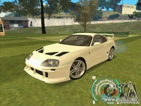 Toyota Supra from 2 Fast 2 Furious for GTA San Andreas left view