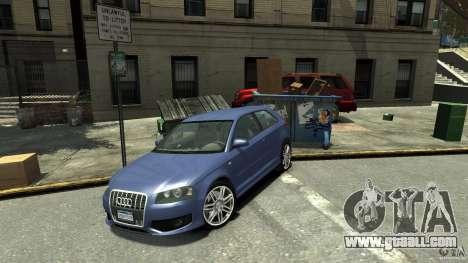 Audi S3 2006 v1.1 is not tonirovanaâ for GTA 4 back left view