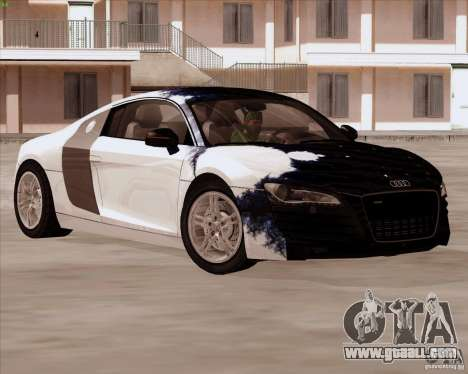 Audi R8 Production for GTA San Andreas upper view