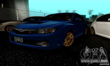 2008 Subaru Impreza Tuneable for GTA San Andreas left view