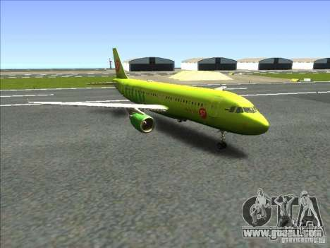Airbus A-320 S7Airlines for GTA San Andreas back left view