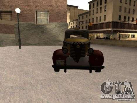 Shubert TAXI of MAFIA 2 for GTA San Andreas back view