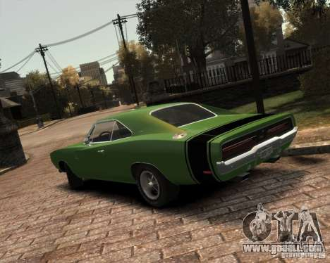 Dodge  Charger 1969 for GTA 4 back view