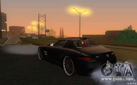 Mercedes Benz SLS HAMANN for GTA San Andreas back left view