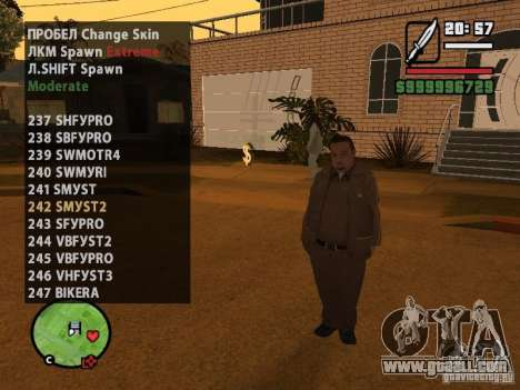 GTA IV peds to SA pack 100 peds for GTA San Andreas twelth screenshot