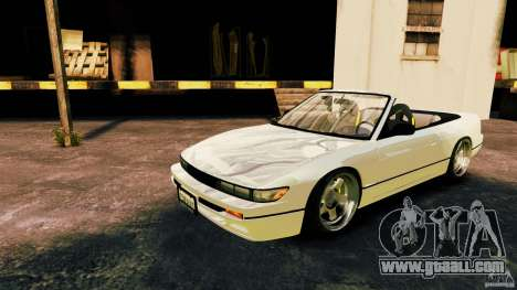 Nissan Silvia S13 Cabrio for GTA 4 left view