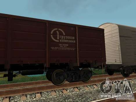 Open wagon cargo company for GTA San Andreas left view