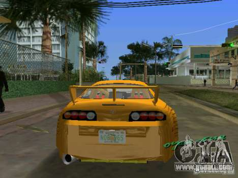 Toyota Supra for GTA Vice City left view