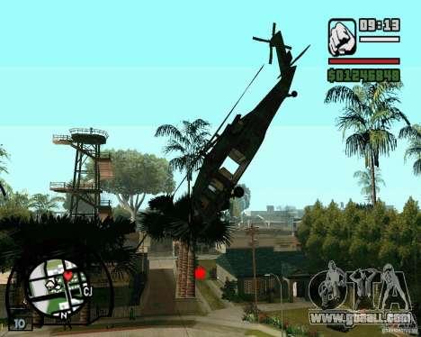 Blackhawk UH60 Heli for GTA San Andreas left view