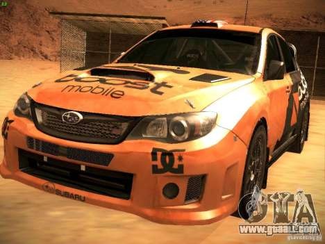 Subaru Impreza Gravel Rally for GTA San Andreas engine