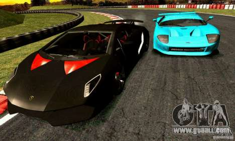 Lamborghini Sesto Elemento for GTA San Andreas back view