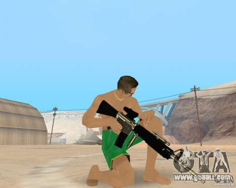 Gold weapons pack for GTA San Andreas