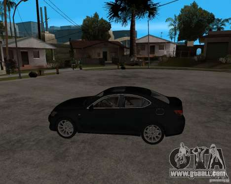 Lexus IS-F v2.0 for GTA San Andreas left view